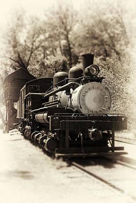 Balck Photograph - Antique Locomotive by Jane Rix