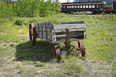 Photograph - Antique Luggage Cart On Yukon Route by Charline Xia