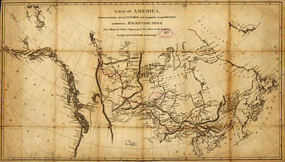 Antique Map Painting - Antique Map Of  Canada 1801 by Celestial Images