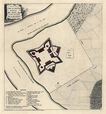 Drawing - Antique Map Of Early Pittsburgh Pennsylvania By Thomas Jefferys - 1768 by Blue Monocle