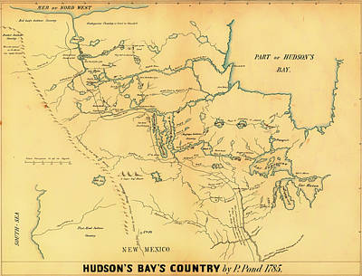 Bay Area Drawing - Antique Map Of Hudson Bay Country 1785 by Mountain Dreams