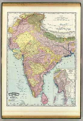 Cartography Painting - Antique Map Of India - Further India by Celestial Images