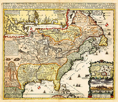 Fade Drawing - Antique Map Of The Harbor Of St Louis Mississippi River by Celestial Images