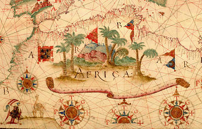Antique Map Of The Mediterranean 1600 Art Print by Mountain Dreams