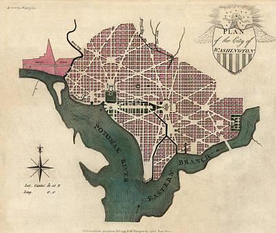 Antique Map Of Washington Dc By J. Good - 1793 Art Print