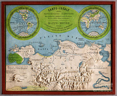Studio Shot Painting - Antique Mappe - Monde  by Celestial Images