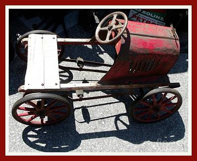 Peddle Car Photograph - Antique  Metal Peddle Car  by Gail Matthews