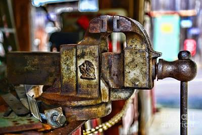 Antique Monarch Cast Iron Bench Vise  Art Print