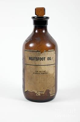 Stopper Photograph - Antique Neatsfoot Oil Bottle by Gregory Davies / Medinet Photographics