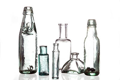 Antique Old Bottles Art Print by Dirk Ercken