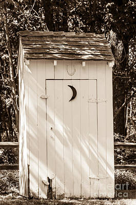 Photograph - Antique Outhouse by Anthony Sacco