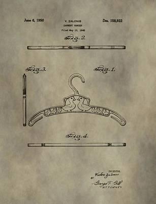 Antique Patent Art Hanger Art Print by Dan Sproul