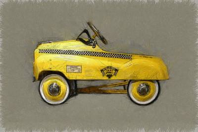 Checker Cab Photograph - Antique Pedal Car Lll by Michelle Calkins