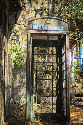 Photograph - Antique Phone Booth by Sherri Meyer