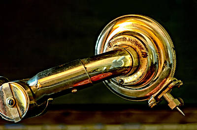 Photograph - Antique Phonograph Tonearm by Stephen Anderson