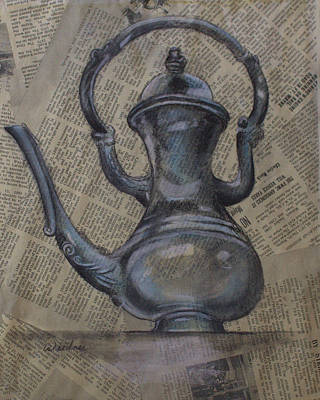 Drawing - Antique Pitcher by Kathy Weidner