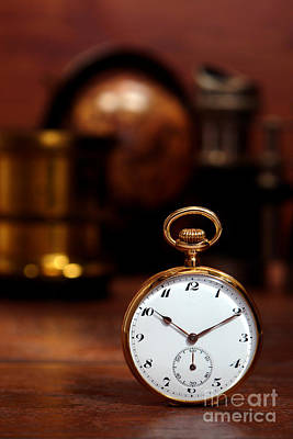 Clock Shop Photograph - Antique Pocket Watch by Olivier Le Queinec