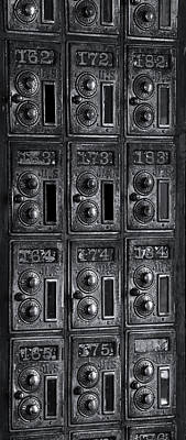 Postbox Photograph - Antique Post Office Boxes At Historic by Panoramic Images