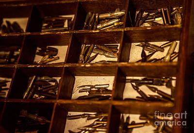Caligraphy Photograph - Antique Quill Metal Nips -nip Pen by Iris Richardson
