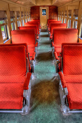 Antique Railroad Coach Car Art Print