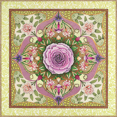 Antique Rose Art Print by Isobel  Brook Haslam