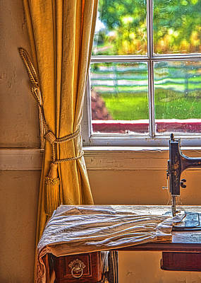 Photograph - Antique Sewing Machine By Window by Gary Slawsky