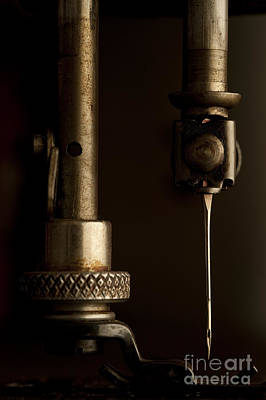 Photograph - Antique Sewing Machine Close Up Of Needle by Jim Corwin