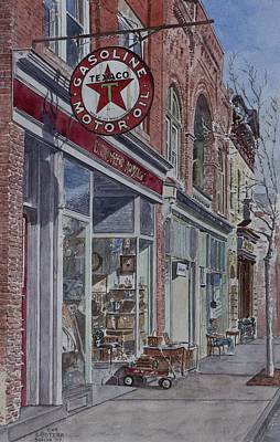 Americana Painting - Antique Shop Beacon New York by Anthony Butera