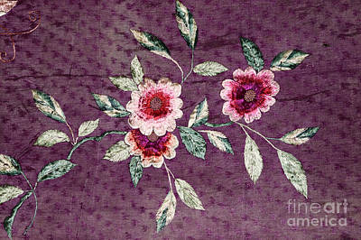 Chinese Embroidery Photograph - Antique Silk Embroidery by Charline Xia