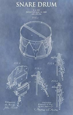 Drum Kit Digital Art - Antique Snare Drum Patent by Dan Sproul