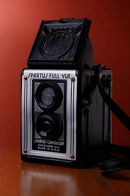 Photograph - Antique Spartus Camera On Table by Rebecca Brittain