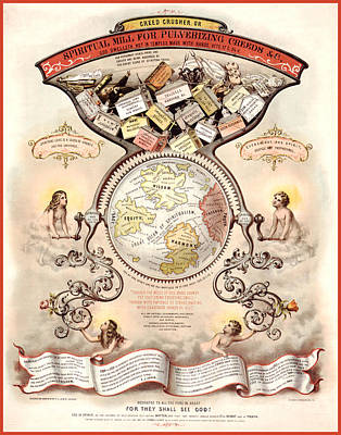 Spiritualism Digital Art - Antique Spiritualism Map by Gary Grayson