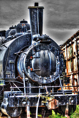 Photograph - Antique Steam Locomotive by Roger Passman