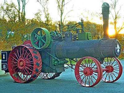 Antique Steam Tractor Art Print by Pete Trenholm