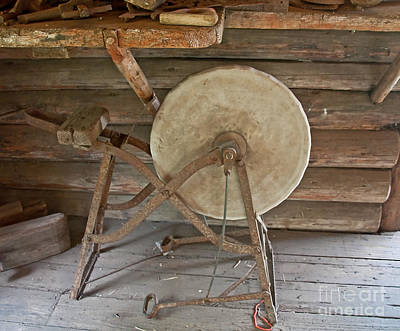 Photograph - Antique Stone Sharpener by Valerie Garner