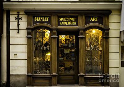 Photograph - Antique Store In Bratislava by Les Palenik