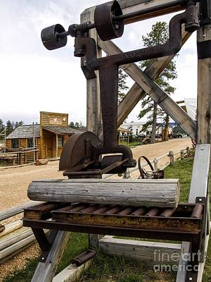 Art Print featuring the photograph Antique Table Saw Tool Wood Cutting Machine by Paul Fearn