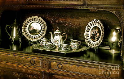 Antique Tea Set Art Print by The Art of Alice Terrill