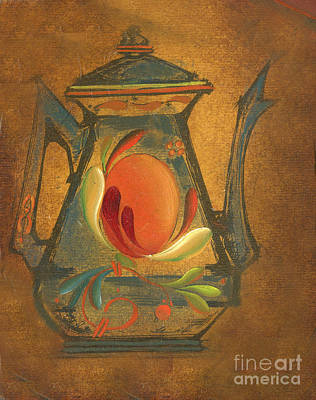 Tea Painting - Antique Teapot by Doreta Y Boyd