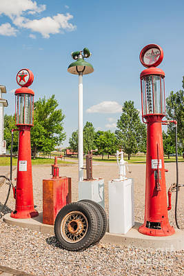 Photograph - Antique Texaco Pumps by Sue Smith