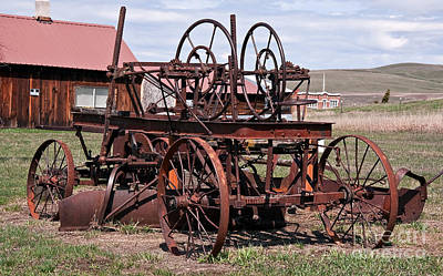 Photograph - Antique Tractor Farm Equipment by Valerie Garner
