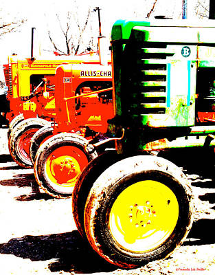 Photograph - Antique Tractors by Amanda Smith