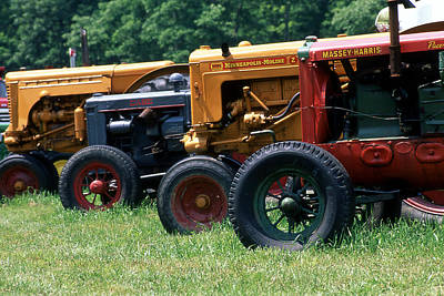 Photograph - Antique Tractors  by Roger Soule