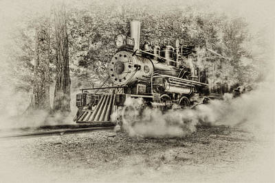 Digital Art - Antique Train by Bill Wakeley