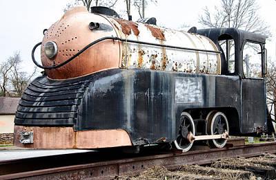 Antique Train Engine Art Print
