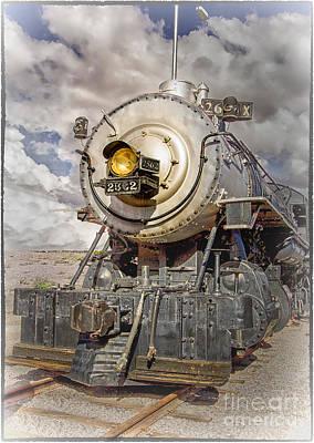 Digital Art - Antique Train Engine by Georgianne Giese