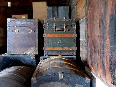 Photograph - Antique Trunks 1 by Anita Burgermeister