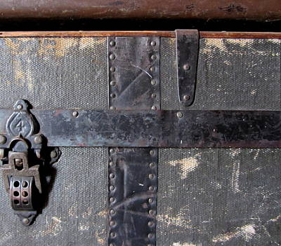 Photograph - Antique Trunks 6 by Anita Burgermeister