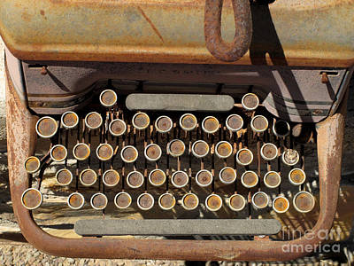 Photograph - Antique Typewriter by Cindy McIntyre
