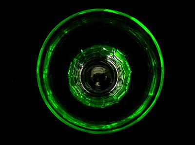 Vaseline Glass Photograph - Bullseye Vaseline Glass by Diane McElhaney